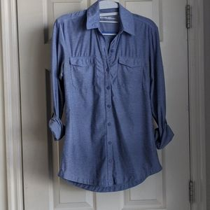 Anti-wrinkle Blue button down